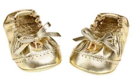 minibailarinas doradas dior recien nacido