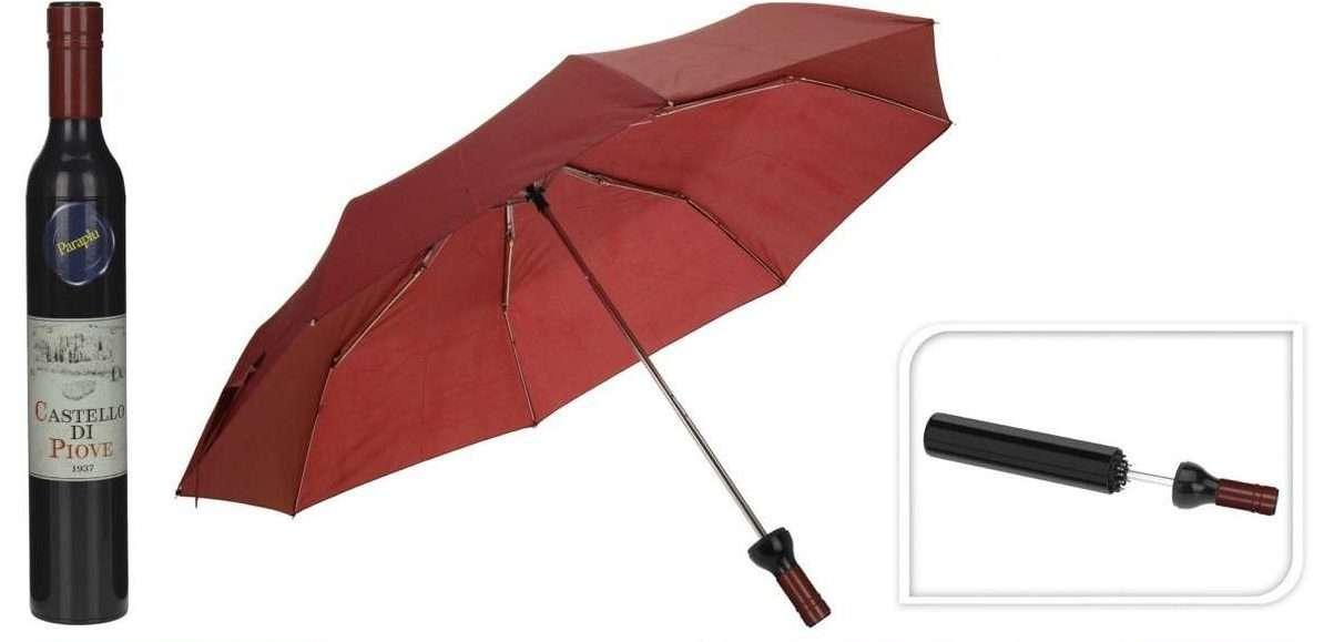 paraguas originales botella de vino