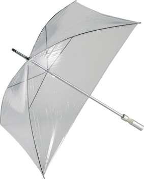 paraguas cuadrado transparente
