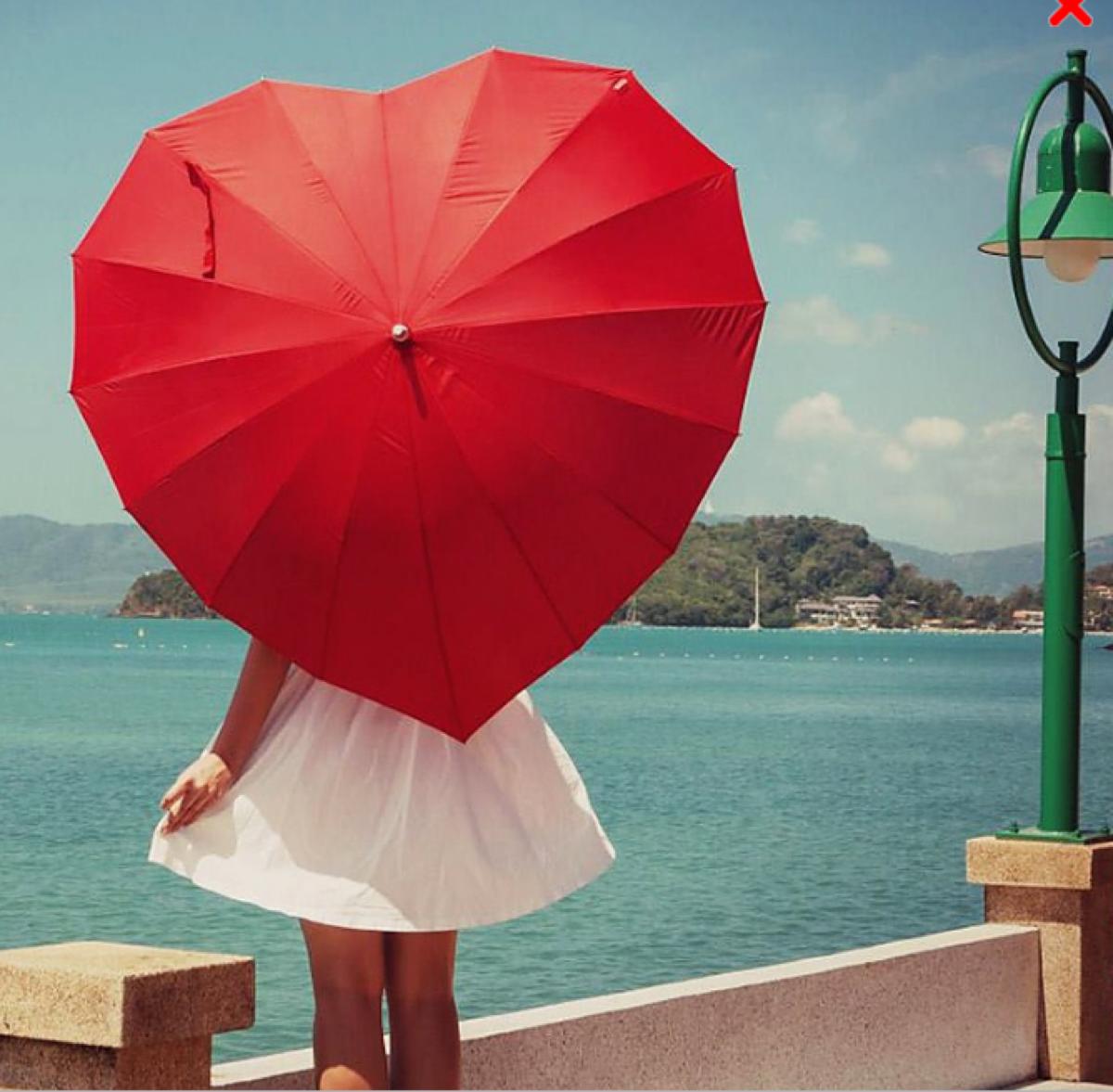 paraguas originales corazon