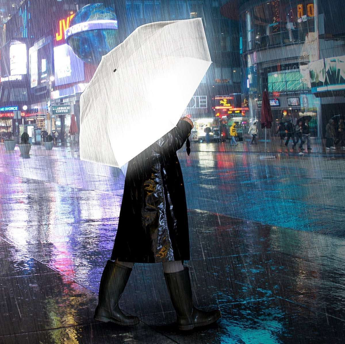 paraguas originales metalizados