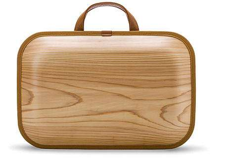 bolso de madera para hombre