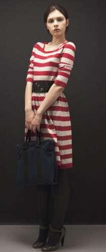 vestido rayas rojas