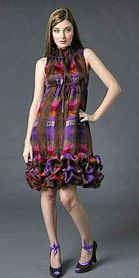 anna sui vestido color