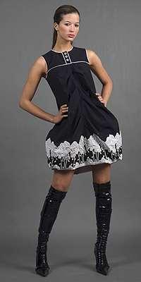 anna sui vestido negro