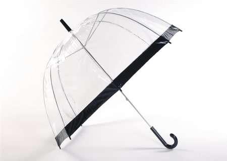 paraguas transparente ribete negro