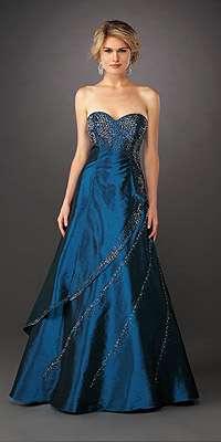 vestido de fin de año azul la femme