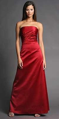 vestido fin de año rojo allen schwartz
