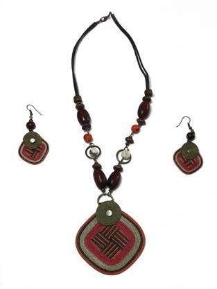 collar pendientes estilo etnico nuba