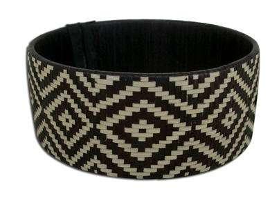pulsera estilo etnico blanco y negro nuba