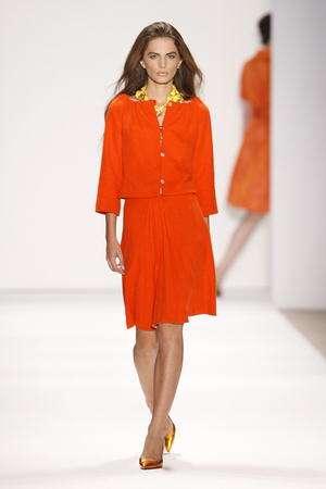 tuleh primavera 2008 vestido naranja