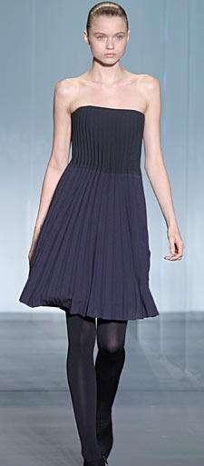 calvin klein vestido azul