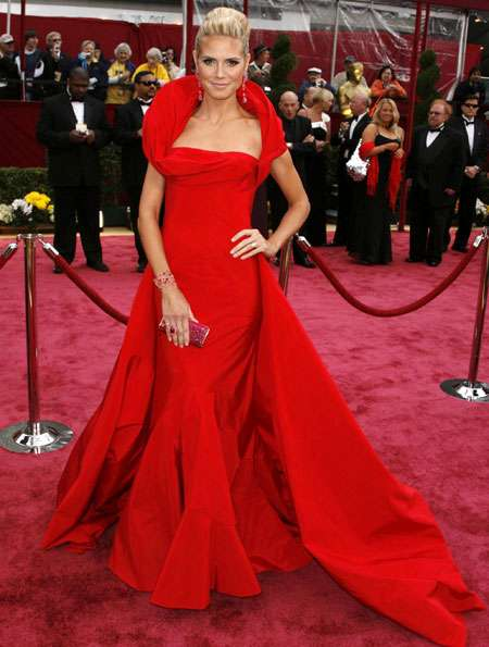 heidi klum de Galliano the heart truth