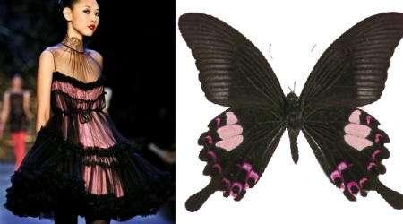 mariposa malva vestido