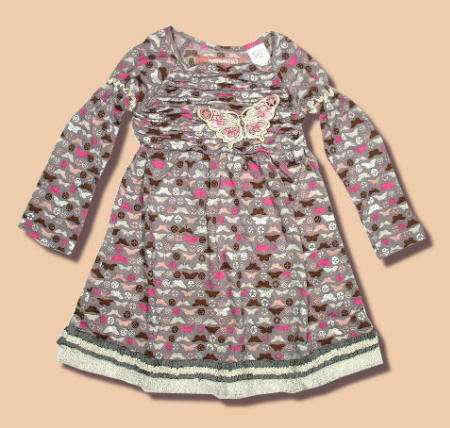 miss sixty para niña vestido mariposa