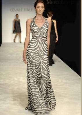 vestido cebra kevan hall