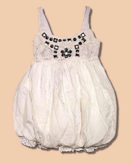 vestido globo para niña miss me