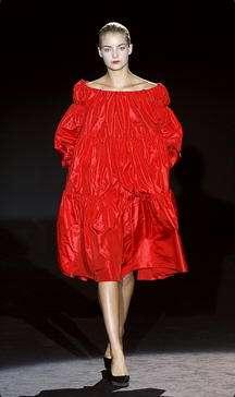 vestido globo rojo carmen march