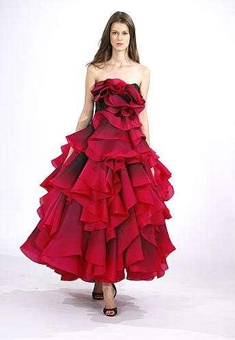 vestido rojo marchesa