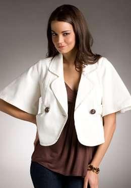 chaqueta tela blanca j lo