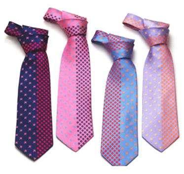 corbatas con nudo agatha