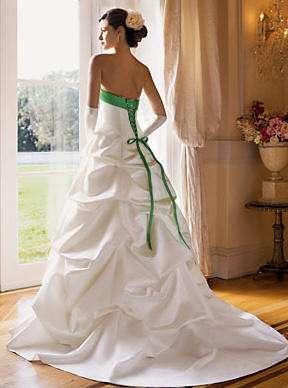 davids bridal vestido blanco verde