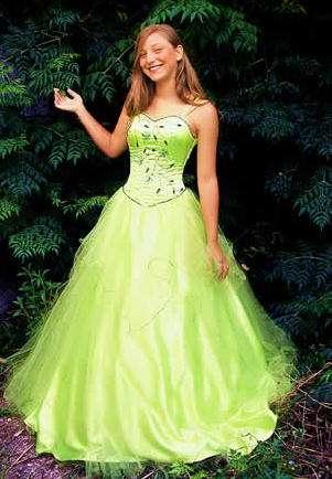 Ver vestidos de 15 color verde manzana
