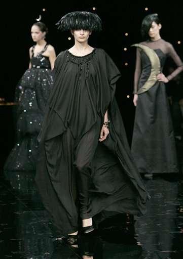 semana de la moda de japon negro