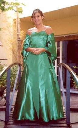 verde raso vestido largo alicia sans
