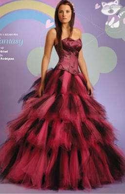 vestido 15 burdeos fantasy