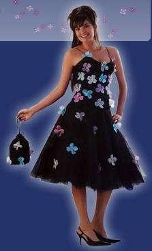 vestido 15 años flores ana carames
