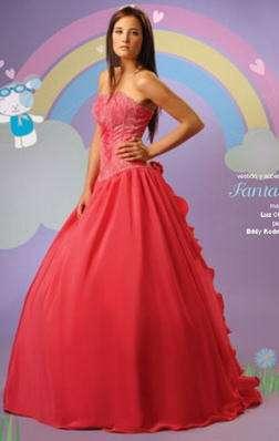 vestido 15 fresa fantasy