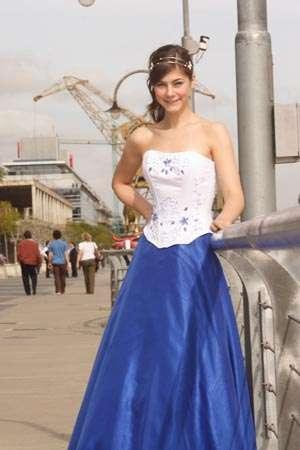 vestido azul tirreno quince