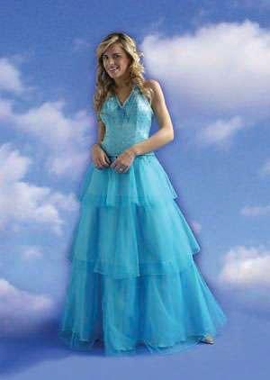 vestido celeste quince
