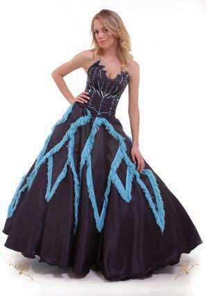 vestido negro azul quince