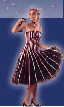 vestido quince rayas ana carames