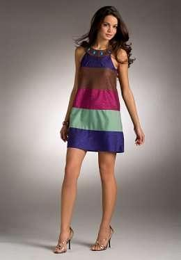vestido rayas jlo