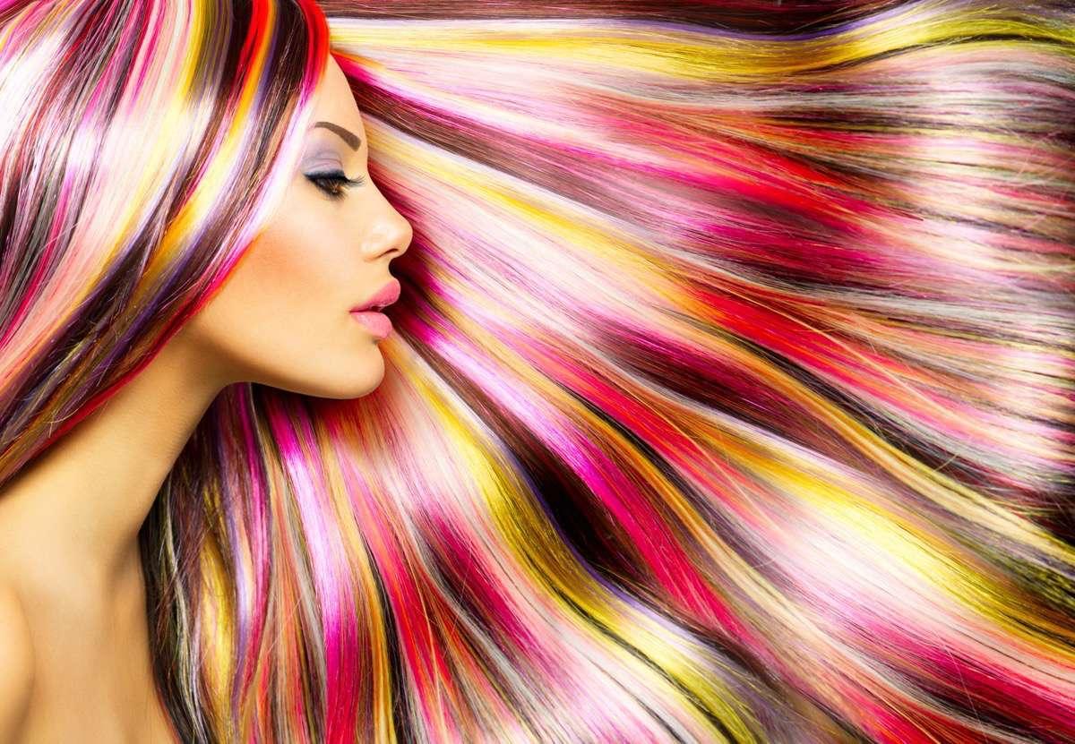 Teñirse el pelo de colores