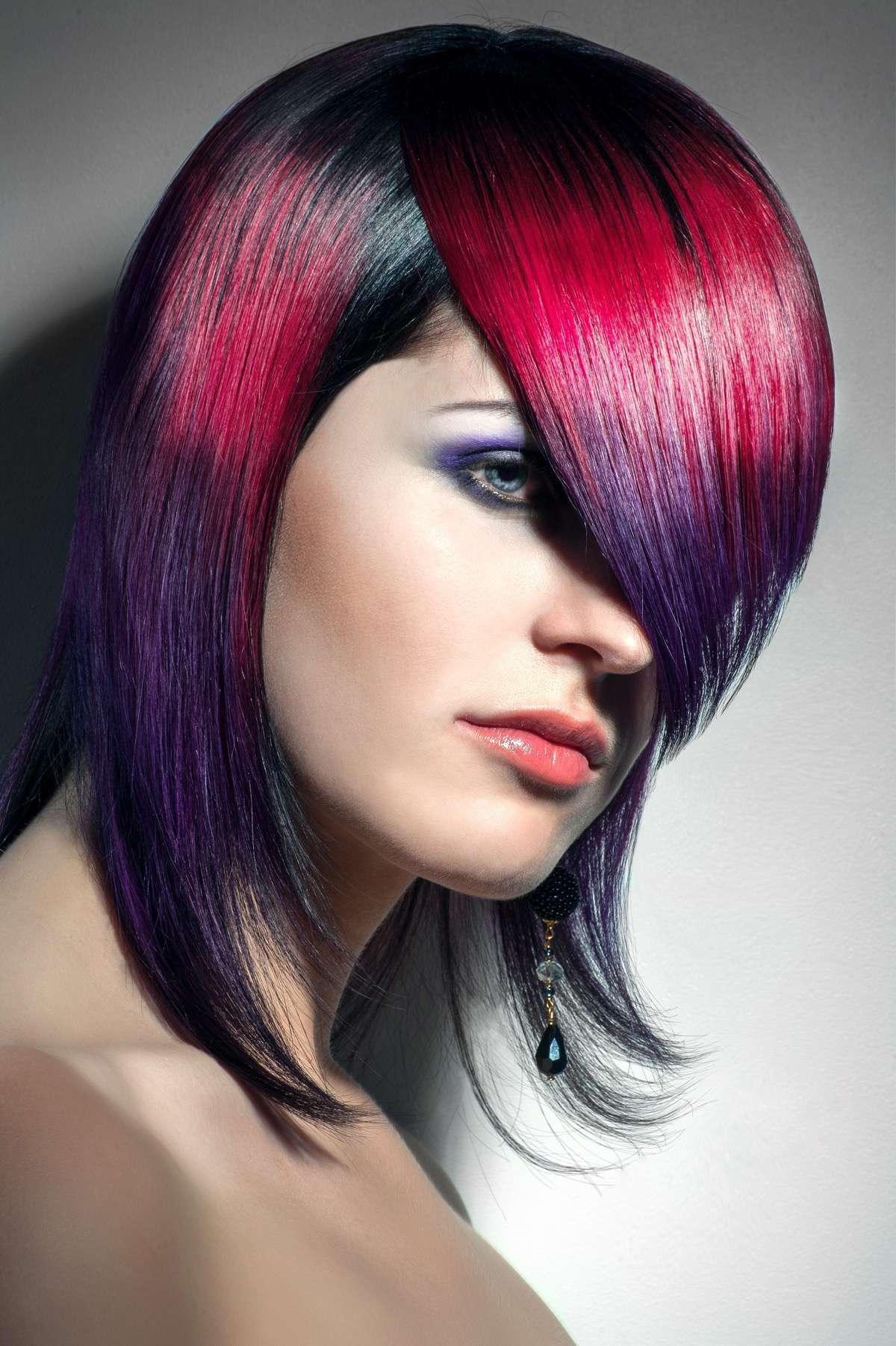 02Tonos para el cabello peinados bicolor