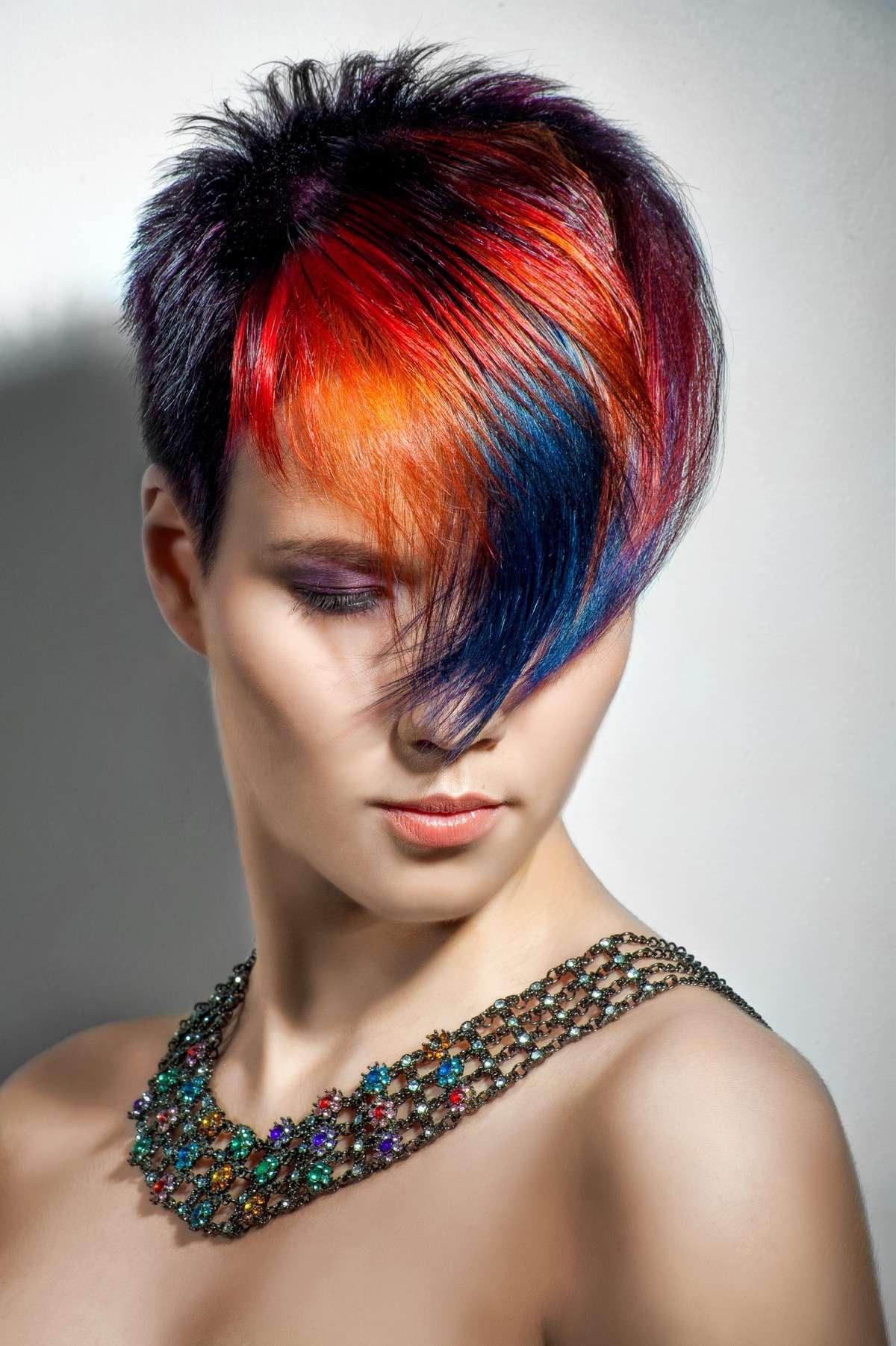 Multiples colores en el pelo