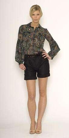 matthew williamson pantalon corto negro