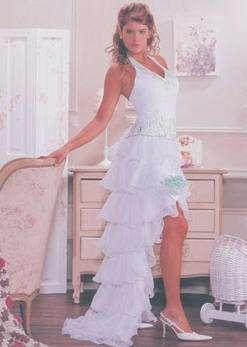 vestido 15 blanco eva novias largo corto