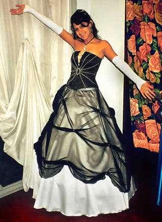 vestido 15 negro maison nuriel