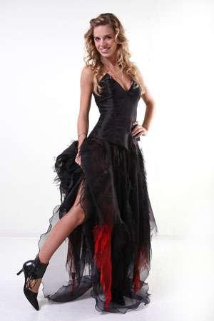 vestido 15 negro mirtha fleites