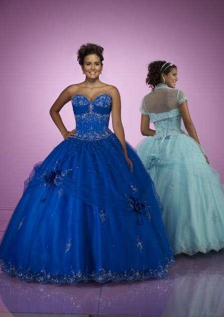 vestido quince princesa azul mori lee
