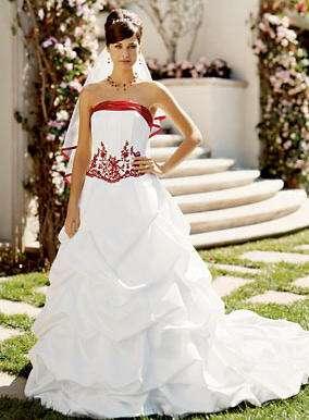 blanco rojo davids bridal b