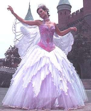 Vestido De 15 A  Os Con Forma De Mariposa