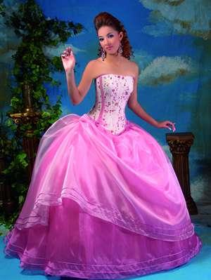vestidos exclusivos rosa princesa