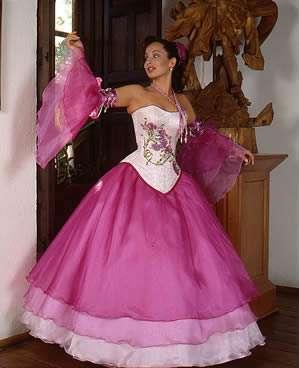 vestidos exclusivos rosa princesa 2