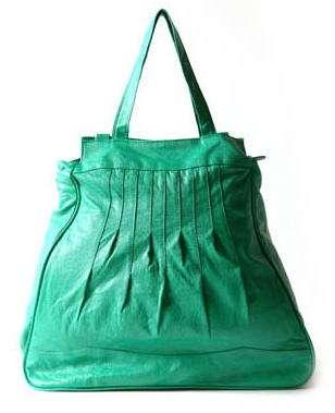 bolso verde blanco accesorios